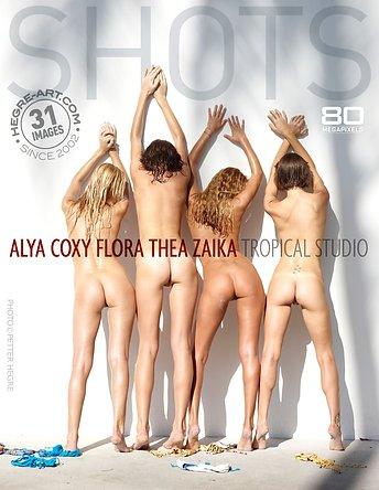 Alya Coxy Flora Thea Zaika tropisches Studio