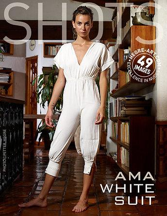 Ama white suit