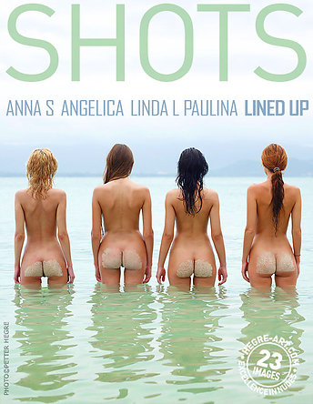 Anna S., Angelica, Linda L. and Paulina lined up