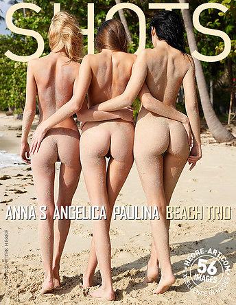 Anna S., Angelica, Paulina trio sur la plage
