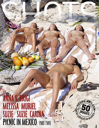 Anna S Brigi Melissa Muriel Suzie Suzie Carina picnic en Mexico parte 2