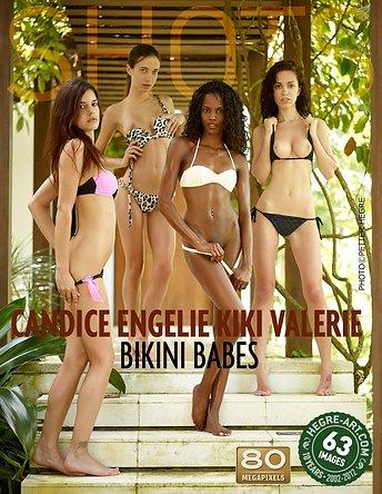 Candice Engelie Kiki Valerie chicas en bikini