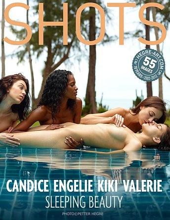 Candice Engelie Kiki Valerie schlafende Schönheit