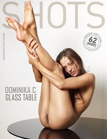 Dominika C glass table