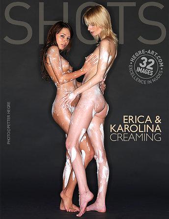 Erica und Karolina kremen sich ein