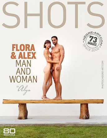 Flora and Alex man and woman by Alya