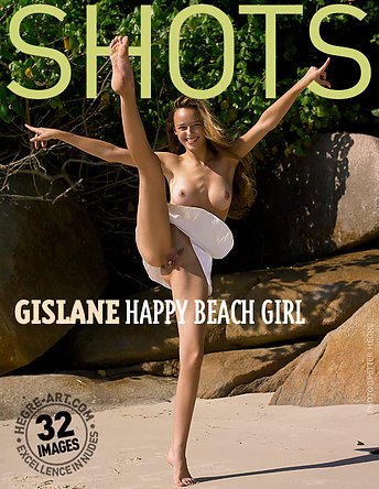 Gislane happy beach girl