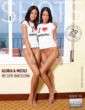 Gloria y Nicole nos gusta Barcelona