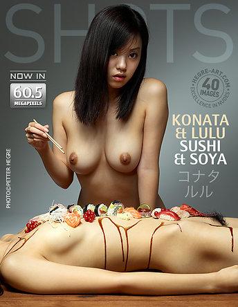 Konata y Lulu sushi y soya