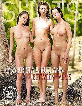 Lysa Krista et Ruslana au milieu des palmiers
