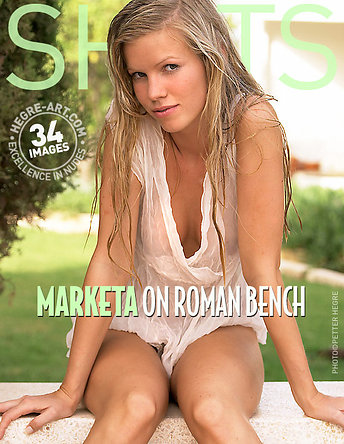 Marketa on roman bench