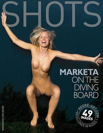 Marketa on the diving board