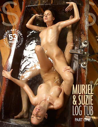 Muriel et Suzie baignoire en bois partie 1