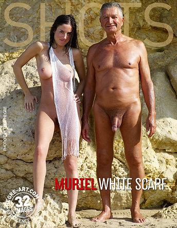 Muriel foulard blanc