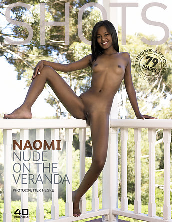 Naomi nude on the veranda