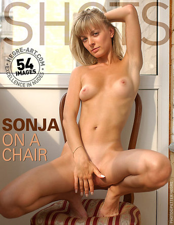 Sonja on a chair