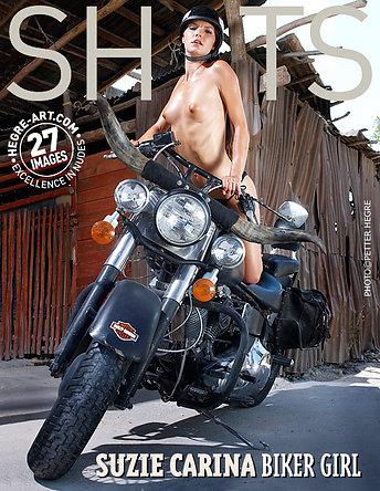 Suzie Carina biker girl