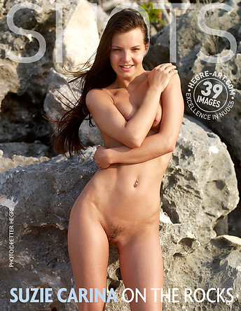 Suzie Carina on the rocks