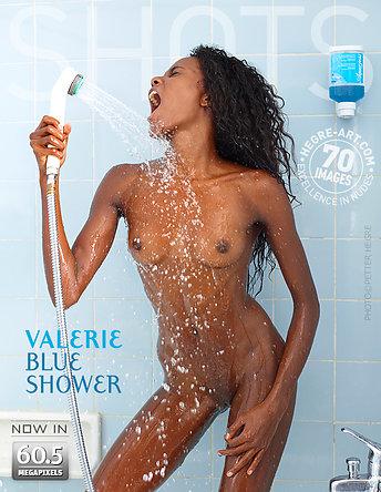 Valerie blaue Dusche