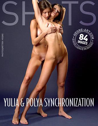Yulia und Polya Synchronisation