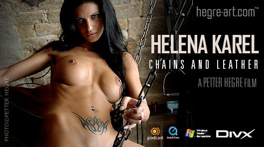 Helena Karel chains and leather