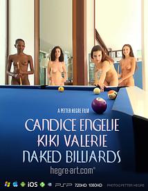 Candice Engelie Kiki Valerie Nacktes Billiard