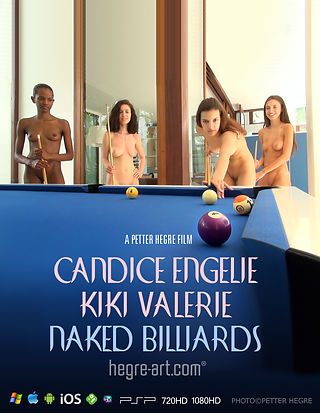 Candice Engelie Kiki Valerie Naked Billiards