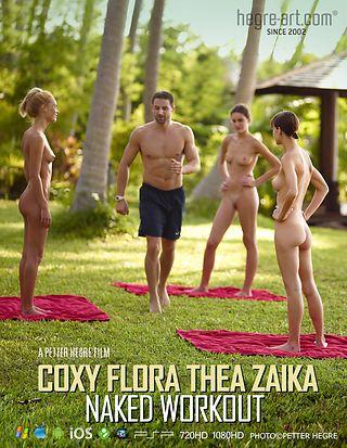 CoxyFloraTheaZaikaNakedWorkout