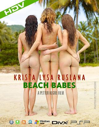 Krista Lysa Ruslana Beach Babes