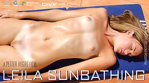 Leila Sunbathing