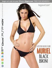Muriel Schwarzer Bikini