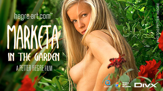 Marketa in the garden