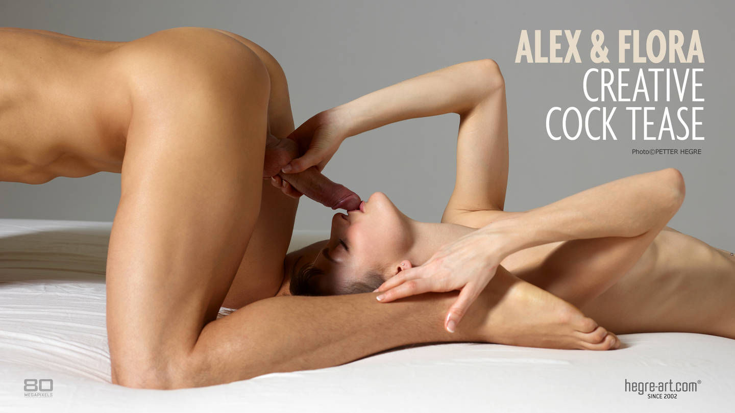 Alex and Flora creative cock tease