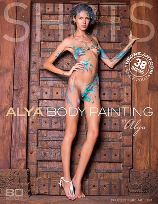 Alya body painting by Alya