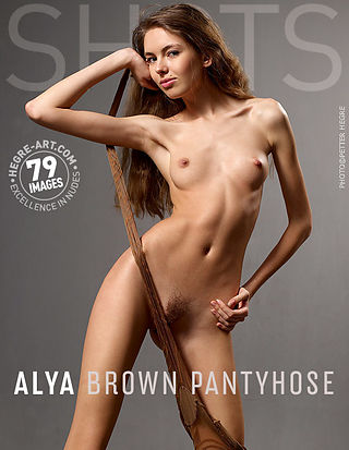 Alya brown pantyhose