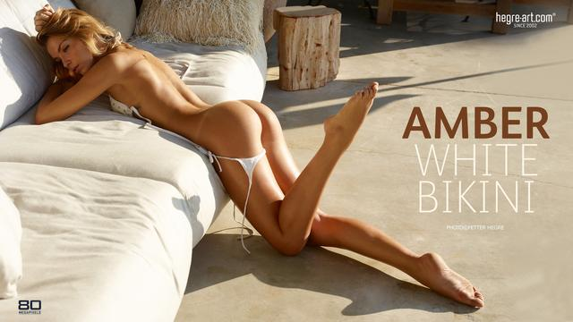 Amber white bikini
