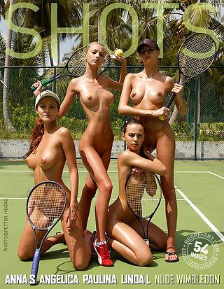 Anna S., Angelica, Paulina and Linda L. nude Wimbledon