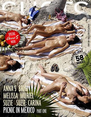 Anna S Brigi Melissa Muriel Suzie Suzie Carina Picknick in Mexiko Teil 1