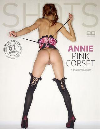 Annie pink corset