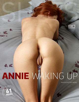 Annie waking up