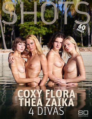 コクシー、フロラ、シーア、ザイカ 4人にディバ