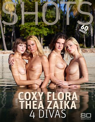 Coxy Flora Thea Zaika 4 divas