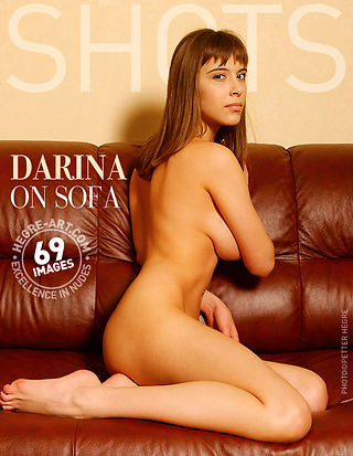 Darina on sofa