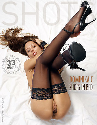 Dominika C shoes in bed