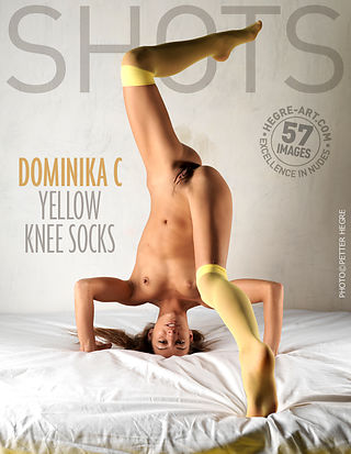 Dominika C yellow knee socks