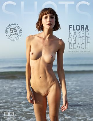 Flora naked on the beach
