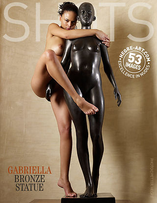 Gabriella statue en bronze
