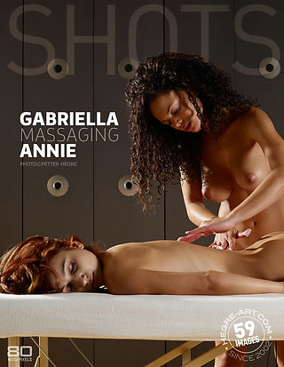 Gabriella massaging Annie