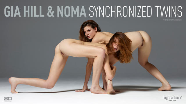 Gia Hill and Noma synchronized twins