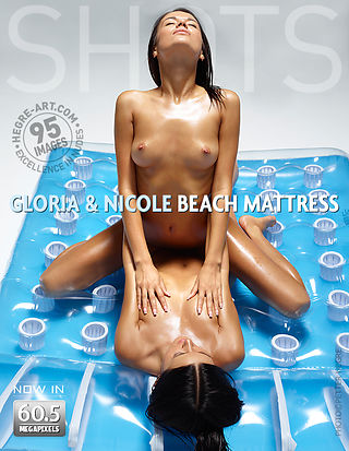 Gloria and Nicole beach mattress